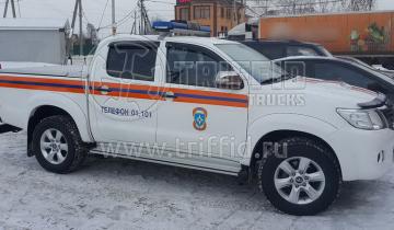 Hilux МЧС с крышкой Triffid Trucks