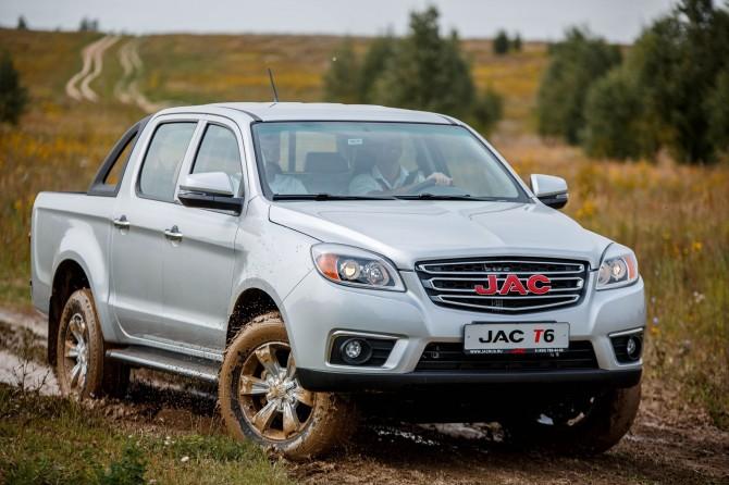 JAC T6 пикап в России. Продажи с 1 сентября